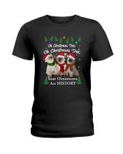 Siamese Cat Ornaments Tree 2210  Ladies T-Shirt thumbnail