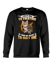 Cat Give Heart 1008 Crewneck Sweatshirt thumbnail