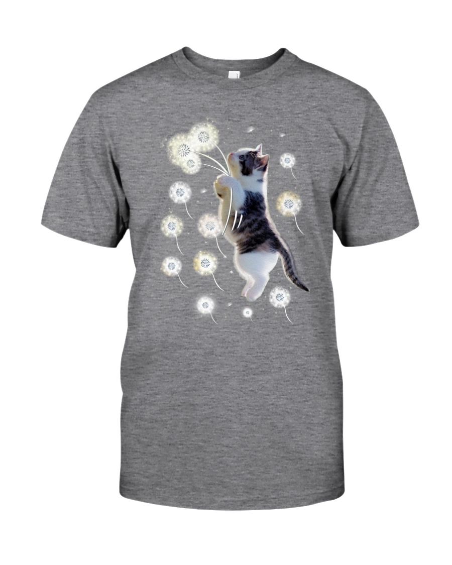 Cat flying with dandelion 180319 Classic T-Shirt
