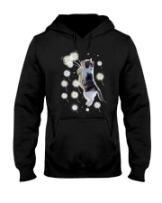 Cat flying with dandelion 180319 Hooded Sweatshirt tile