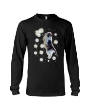Cat flying with dandelion 180319 Long Sleeve Tee tile