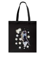 Cat flying with dandelion 180319 Tote Bag tile