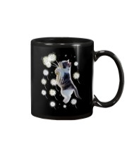 Cat flying with dandelion 180319 Mug tile