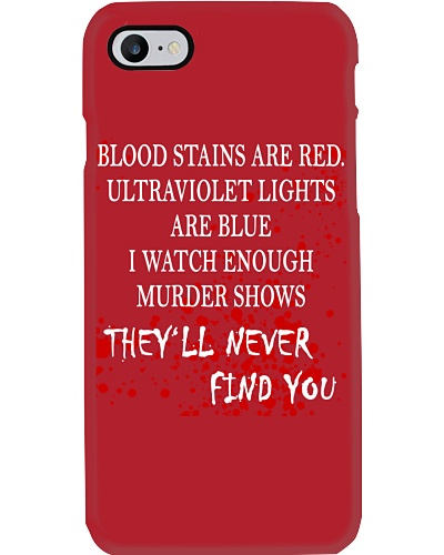 Blood Stains Are Red Ultraviolet Lights Are Blue