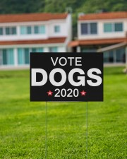 Vote dogs 2020 yard sign 18x12 Yard Sign aos-yard-sign-18x12-lifestyle-front-03