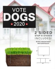 Vote dogs 2020 yard sign 18x12 Yard Sign aos-yard-sign-18x12-lifestyle-front-25