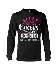 Queens Are Born In November Long Sleeve Tee thumbnail