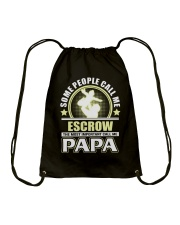 CALL ME ESCROW PAPA JOB SHIRTS Drawstring Bag thumbnail