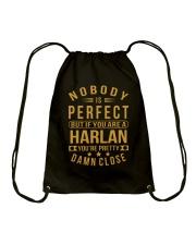 NOBODY PERFECT HARLAN NAME SHIRTS Drawstring Bag thumbnail
