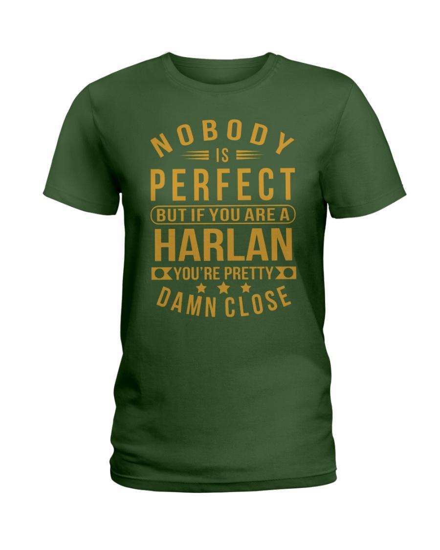 NOBODY PERFECT HARLAN NAME SHIRTS Ladies T-Shirt