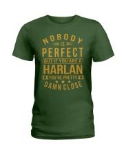 NOBODY PERFECT HARLAN NAME SHIRTS Ladies T-Shirt front