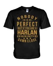 NOBODY PERFECT HARLAN NAME SHIRTS V-Neck T-Shirt thumbnail