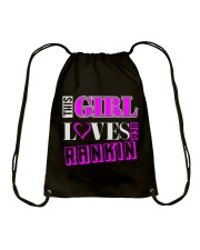 GIRL LOVES HER RANKIN SHIRTS Drawstring Bag tile