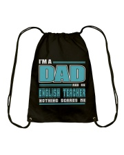DAD AND ENGLISH TEACHER JOB SHIRTS Drawstring Bag thumbnail