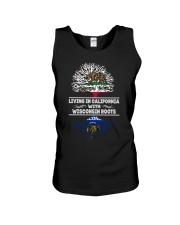 LIVING IN CALIFORNIA WITH WISCONSIN ROOTS SHIRTS Unisex Tank thumbnail