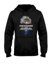 LIVING IN CALIFORNIA WITH WISCONSIN ROOTS SHIRTS Hooded Sweatshirt thumbnail