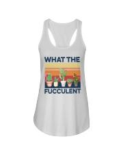 what the fucculent shirt Ladies Flowy Tank thumbnail