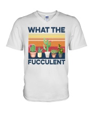 what the fucculent shirt V-Neck T-Shirt thumbnail