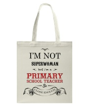 Awesome Primary School Teacher Gift Tote Bag front