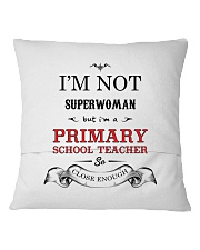 Awesome Primary School Teacher Gift Square Pillowcase back