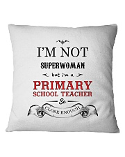 Awesome Primary School Teacher Gift Square Pillowcase front