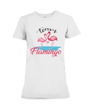 Team Flamingo Premium Fit Ladies Tee tile
