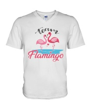 Team Flamingo V-Neck T-Shirt tile