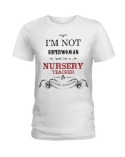 Awesome Nursery Teacher Gift Ladies T-Shirt tile