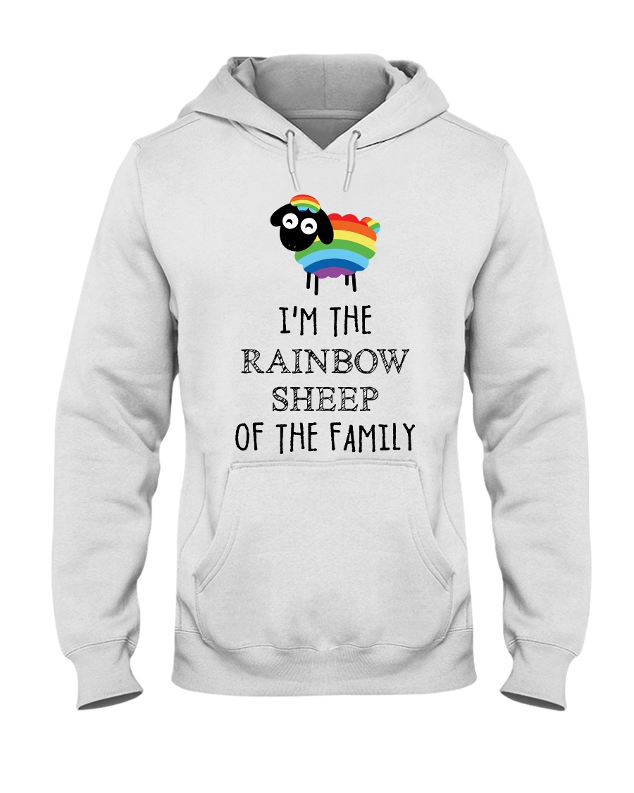 Awesome Rainbow Sheep of the Family Super Sale Hooded Sweatshirt