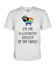 Awesome Rainbow Sheep of the Family Super Sale V-Neck T-Shirt thumbnail