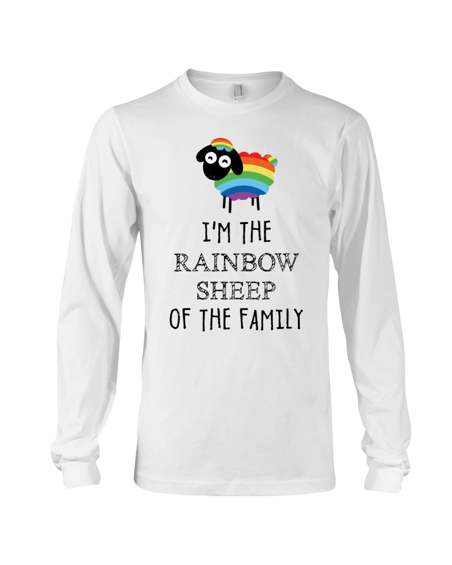 Awesome Rainbow Sheep of the Family Super Sale Long Sleeve Tee