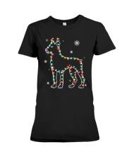 Doberman Pinscher Dog Christmas Shirt Premium Fit Ladies Tee thumbnail