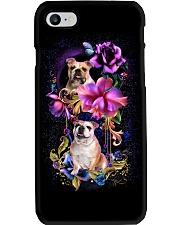 Bulldog Dog Flower Phone Case Phone Case i-phone-8-case
