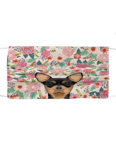 Chihuahua Flower Face Mask