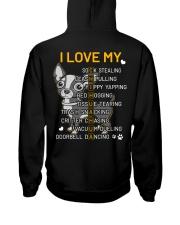 I Love My Chihuahua Dog Hooded Sweatshirt back