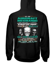 Aircraft Mechanic Hooded Sweatshirt back