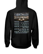 Cabinetmaker Hooded Sweatshirt back