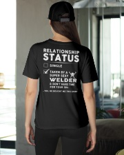 Welder Weld Welding Relationship Status Job Shirt Ladies T-Shirt apparel-ladies-t-shirt-lifestyle-back-08