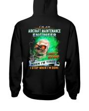 Aircraft Maintenance Engineer Hooded Sweatshirt back