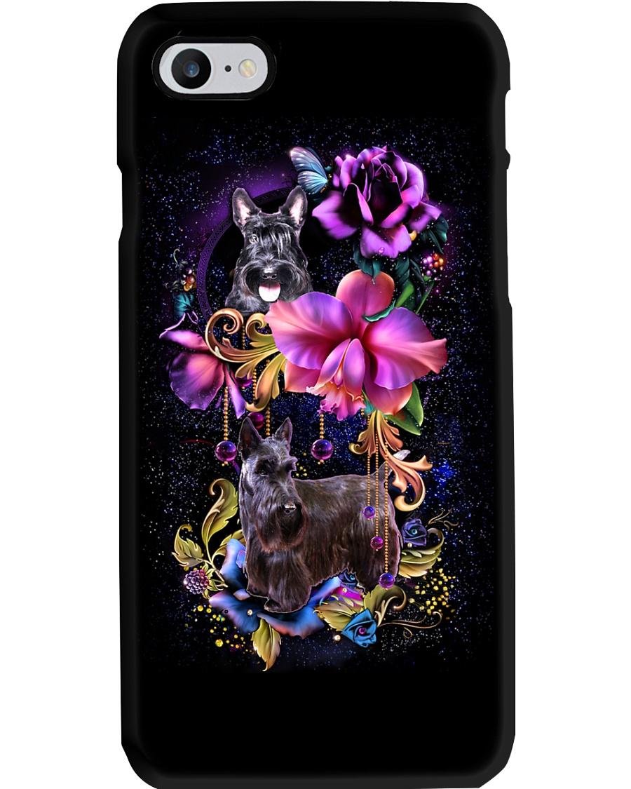 Scottish Terrier Dog Flower Phone Case Phone Case