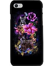 Scottish Terrier Dog Flower Phone Case Phone Case i-phone-8-case