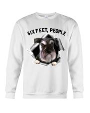Schnauzer 6 Feet People Shirt Crewneck Sweatshirt tile