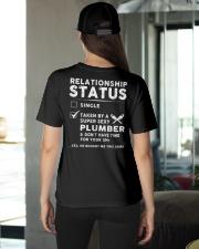 Plumber Plumbing Relationship Status Job Shirt Ladies T-Shirt apparel-ladies-t-shirt-lifestyle-back-08