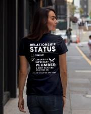 Plumber Plumbing Relationship Status Job Shirt Ladies T-Shirt lifestyle-women-crewneck-back-1