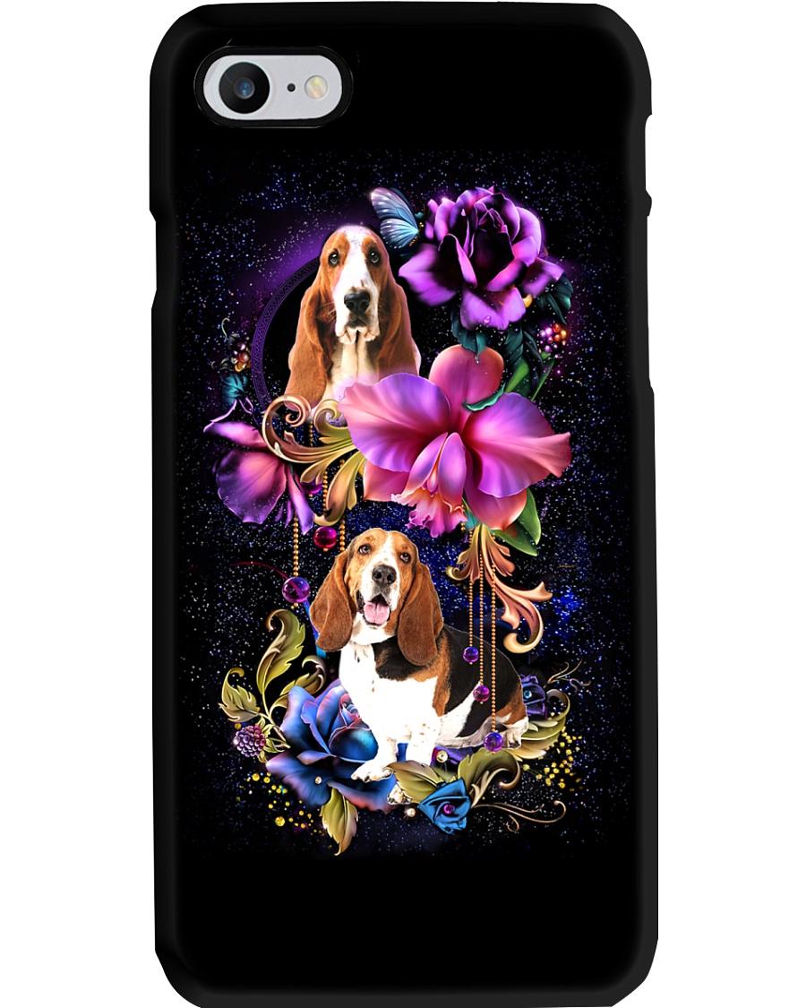 Basset Hound Dog Flower Phone Case Phone Case