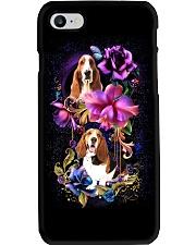 Basset Hound Dog Flower Phone Case Phone Case i-phone-7-case