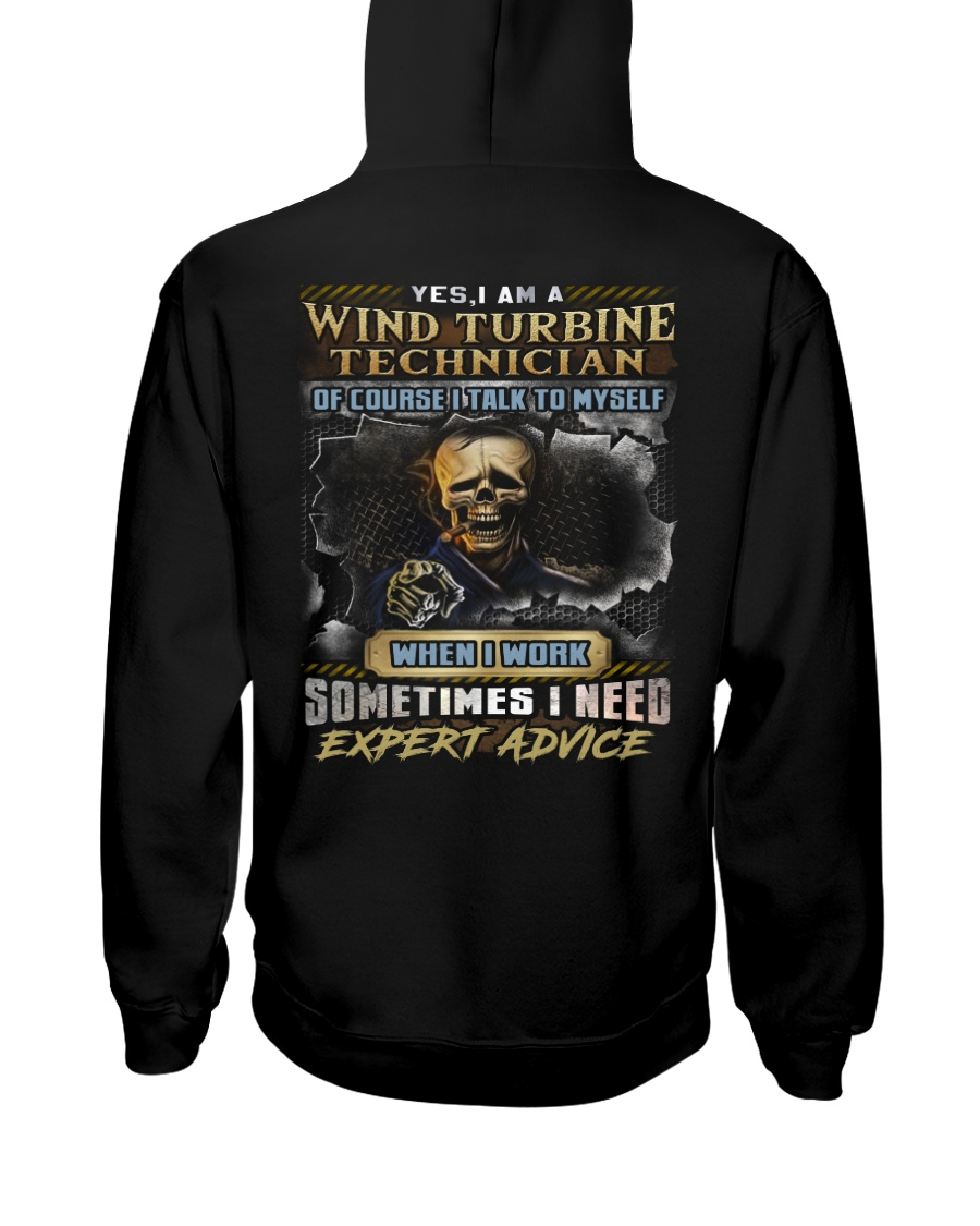 Wind Turbine Technician Hooded Sweatshirt