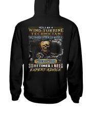 Wind Turbine Technician Hooded Sweatshirt back