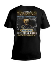Wind Turbine Technician V-Neck T-Shirt thumbnail