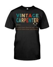 Vintage Carpenter Carpentry Jobs Classic T-Shirt thumbnail